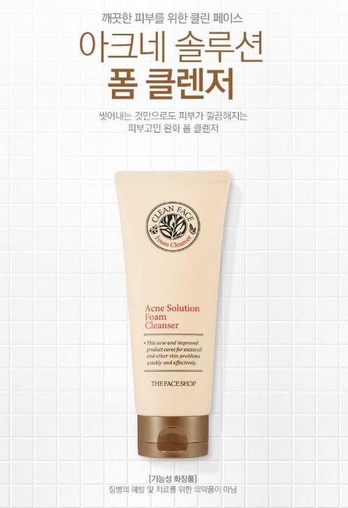 Sữa Rửa Mặt The Faceshop Clean Face Acne Solution Foam Cleansing 3