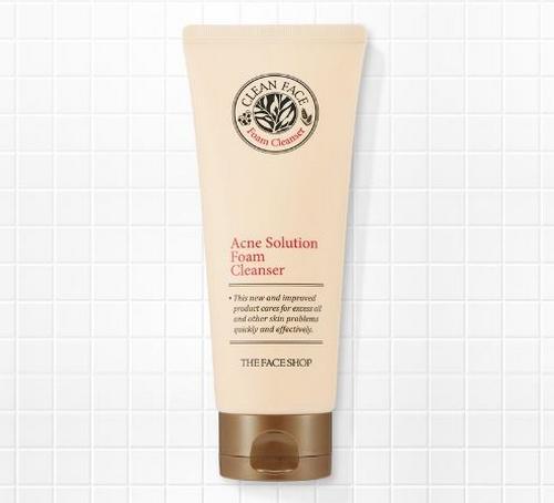 Sữa Rửa Mặt The Faceshop Clean Face Acne Solution Foam Cleansing 2