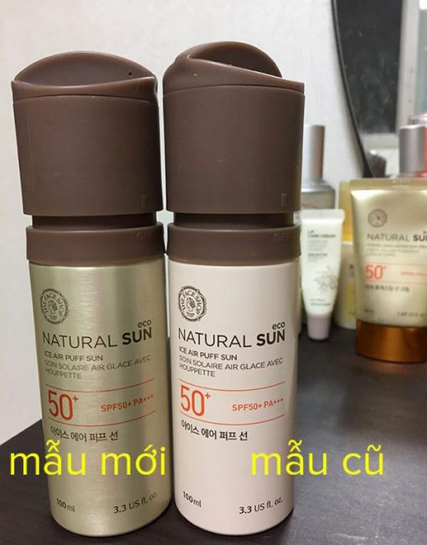 Kem Chống Nắng Hạ Nhiệt Làn Da The Face Shop Natural Sun Eco Ice Air Puff Sun SPF 50+ PA+++