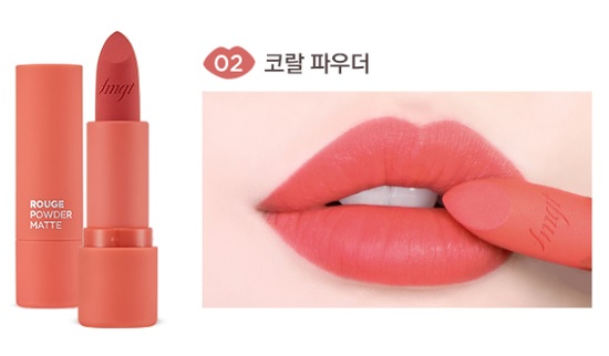 Màu 02 Son Thỏi Siêu Lì The Face Shop Rouge Powder Matte