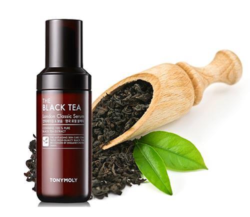Tinh Chất Dưỡng Ẩm Và Chống Lão Hóa Chiết Xuất Trà Đen Tonymoly The Black Tea London Classic Serum 55ml