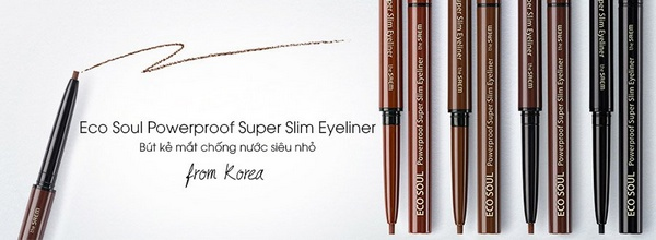 Kẻ Bút Kẻ Mắt Chống Nước The SAEM Eco Soul Powerproof Super Slim Eyeliner