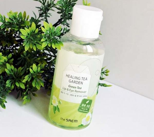 Hình ảnh thực tế Nước Tẩy Trang Mắt Môi The SAEM Healing Tea Garden Green Tea Lip & Eye Remover 150ml