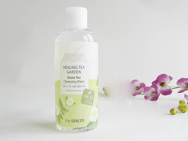 Nước Tẩy Trang Chiết Xuất Từ Trà Xanh Dưỡng Ẩm Cho Da The Saem Healing Tea Garden Green Tea Cleansing Water 300ml