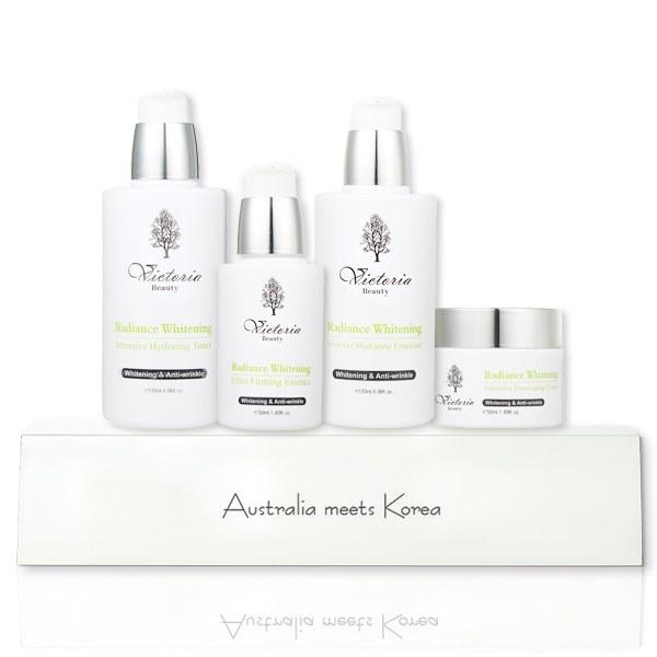 Bộ Dưỡng Da Cao Cấp Victoria Beauty Radiance Whitening Intensive Illuminating Set (4 Sản Phẩm)