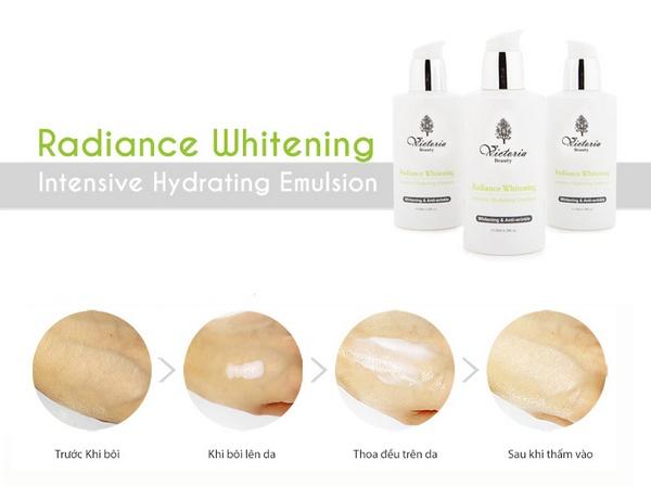 Sữa Dưỡng Dưỡng Trắng Và Chống Lão Hoá Cao Cấp Victoria Beauty Radiance Whitening Intensive Illuminating Emulsion 120ml