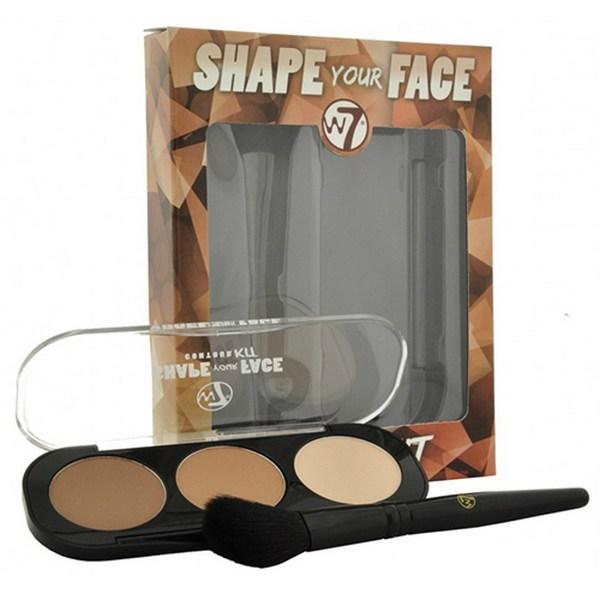 Phấn Tạo Khối 3 Ô W7 Shape Your Face Contour Kit 2