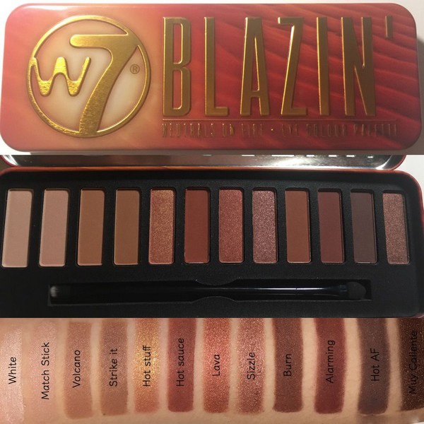 Bảng Phấn Mắt W7 Blazin Neutrals On Fire - Eye Colour Palette